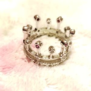 Jewelry - Royal Crown Tiara Ring Size 6, Sterling Silver